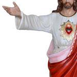 statua Sacro Cuore di Gesù braccia aperte cm 150 -mani