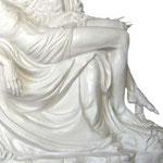 statua Madonna Pietà cm 130 bianca - mani