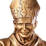 statua San Giovanni Paolo II cm 200 color bronzo - volto