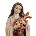 statua Santa Teresa in legno - volto