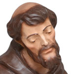 statua San Francesco d' Assisi cm. 30 - volto