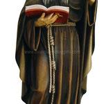 statua San Benedetto in legno - busto