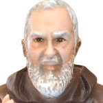 statua San Padre Pio cm 30 -volto