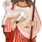 statua Sacro Cuore di Gesù buon pastore cm 160 -mani