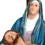 statua Madonna Pietà cm 42 - volto