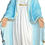 statua Madonna Miracolosa cm 35 - mani