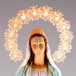 statua Madonna Miracolosa cm 35 illuminata - volto