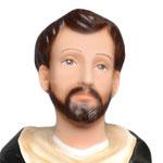 statua San Domenico Guzman cm. 55 - volto