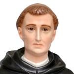 statua San Domenico Guzman cm. 82 - volto