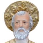 statua San Nicola cm 42 -volto