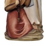 statua Madonna di Lourdes con Bernadette in legno - base