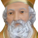 busto San Nicola cm 33 -volto