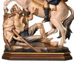 statua San Martino a cavallo in legno - base
