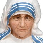 statua Madre Teresa di Calcutta cm 100 - volto