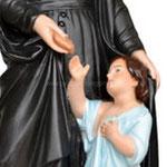 statua San Vincenzo de Paoli cm 60 -mani