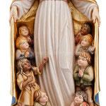 statua Madonna della protezione in legno - busto