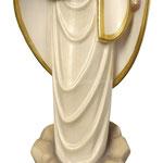 statua Madonna di Medjugorje stilizzata in legno - busto