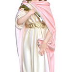 statua Santa Filomena cm 100 - mani