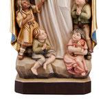 statua Madonna della protezione in legno - base