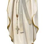 statua Madonna di Lourdes stilizzata in legno - busto