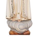 statua Madonna di Fatima con corona in legno - base