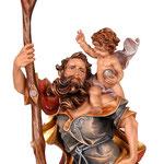 statua San Cristoforo in legno - volto
