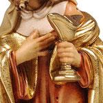 statua Re Magio bianco - mani