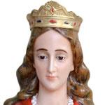 statua Santa Barbara cm 130 - volto