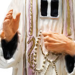 statua San Curato d'Ars cm. 30 - mani