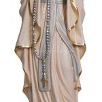statua Madonna di Lourdes con corona in legno - busto