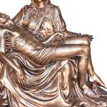 statua Madonna Pietà bronzo cm 130 - mani