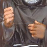 statua San Padre Pio cm 50 -mani