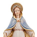 statua Madonna della protezione in legno - volto