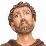 statua San Francesco d' Assisi cm. 130 - volto