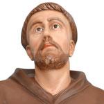 statua San Francesco d' Assisi cm. 174 - volto