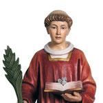 statua Santo Stefano in legno - volto