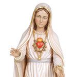 statua Madonna di Fatima V apparizione in legno - volto