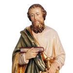statua San Paolo in legno - volto