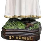vendita statua Sant' Agnese in resina cm 40 - base