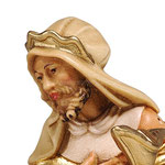 statua Re Magio bianco - volto