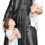 statua San Vincenzo de Paoli cm 30 -mani