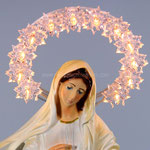 statua Madonna di Medjugorje cm 30 illuminata - volto