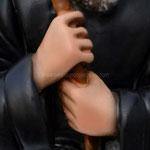 statua San Francesco di Paola cm 28 - mani