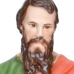 statua San Paolo cm 40 -volto