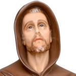 statua San Francesco d' Assisi cm. 103 - volto