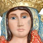 busto da parete Madonna dell' Arco cm 35 - volto 1