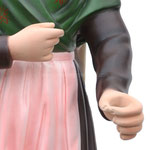 statua Santa Bernadette cm 66 - mani