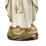 statua Madonna di Lourdes stilizzata in legno - base