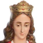statua Santa Cecilia cm 130 - volto