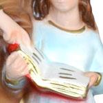 vendita statua Sant Anna in resina cm 25 - mani